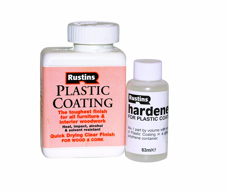 Rustins PCGL250 250ml Plastic Coating and Hardener Gloss