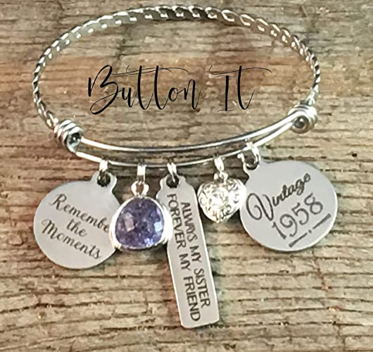 Birthday Gifts For HER Sister Best FRIEND Gift 40th Bracelet
