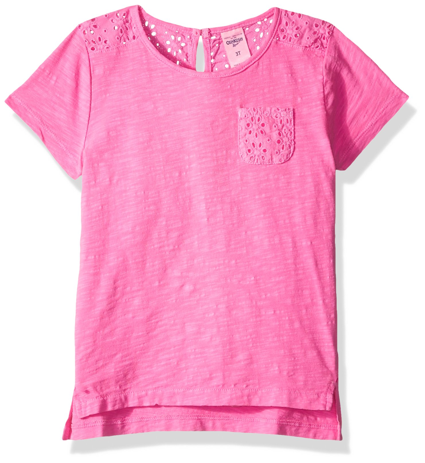 Osh Kosh Girls' Kids Fashion Tops, Pink, 8