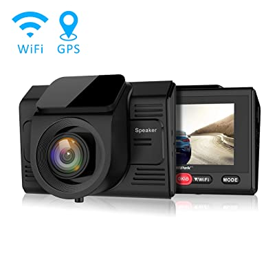 "Campark Dash Cam with GPS Logger and Wifi Full HD 1080P Car/Vehicle Driving Video Camera,Wide Angle,2.45"" LCD,Motion Detection,Parking Monitor: Electronics"