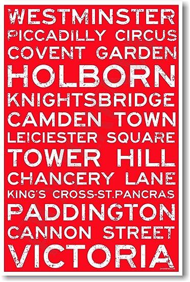 Amazon.com: Londres, Inglaterra Signs – Viajes de nuevo ...