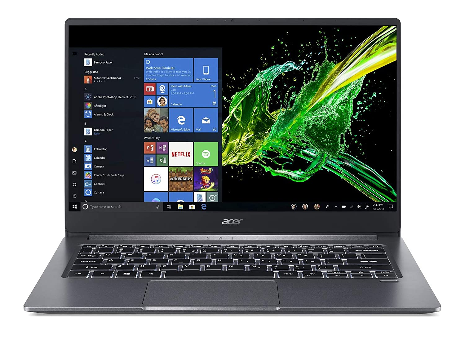 Acer Swift 3 laptop under 60000
