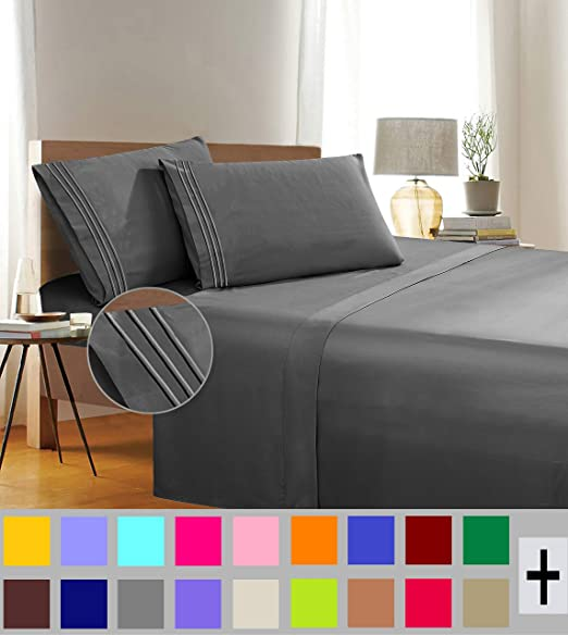 Luxury and Softest 1500 Thread Count Egyptian Quality Bedding Flat Sheet Orange Elegant Comfort Premium Hotel 1-Piece Stain-Resistant 100/% Hypoallergenic Wrinkle-Free Twin//Twin XL