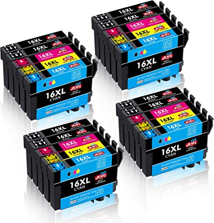 JIMIGO 16 XL 16XL Ink Cartridges Replacement for Epson 16 Ink ...