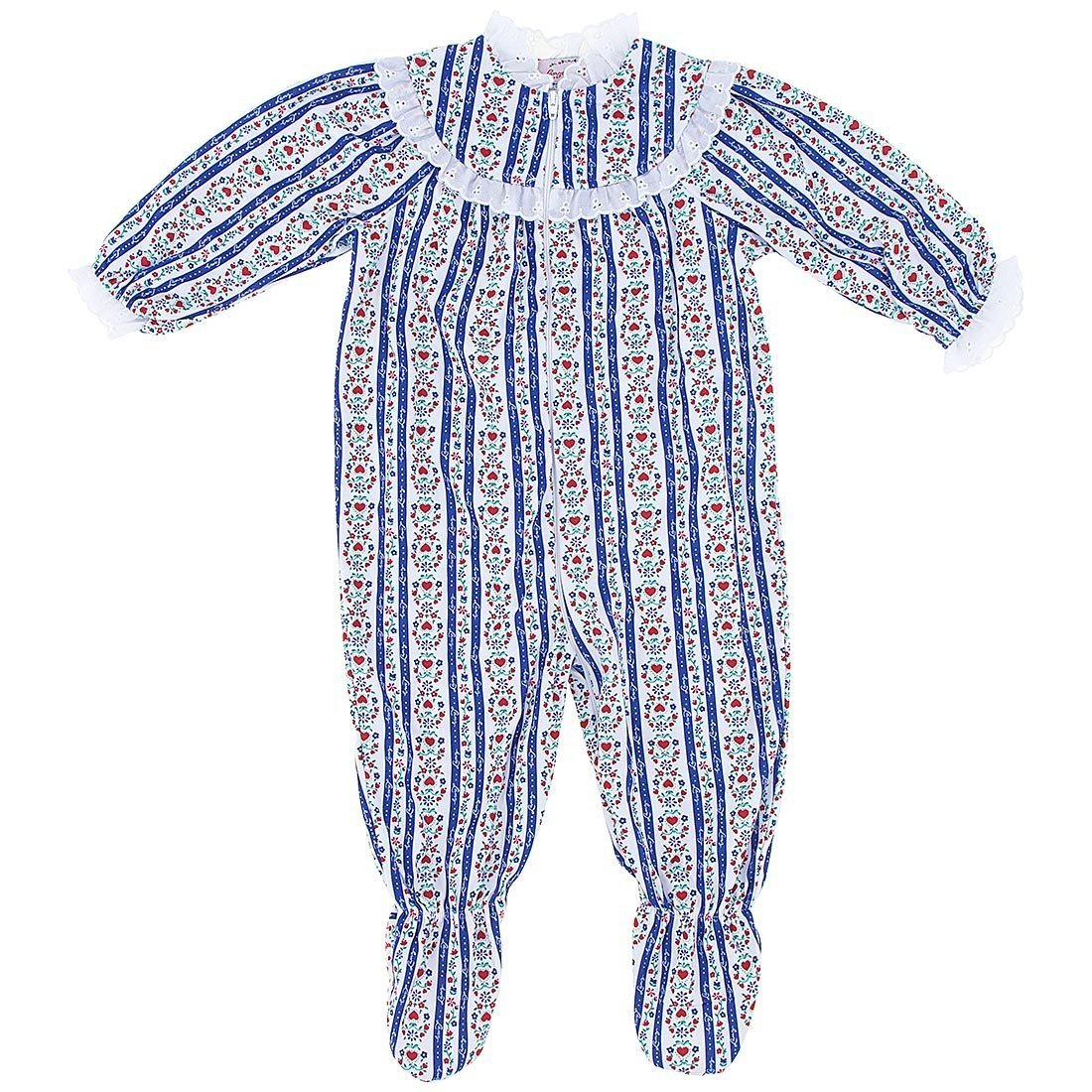 80791aacd0ca Amazon.com  Lanz of Salzburg Blue Tyrolean Footed Pajamas for Infant ...