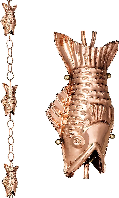 Good Directions Fish Pure Copper 8.5-Foot Rain Chain