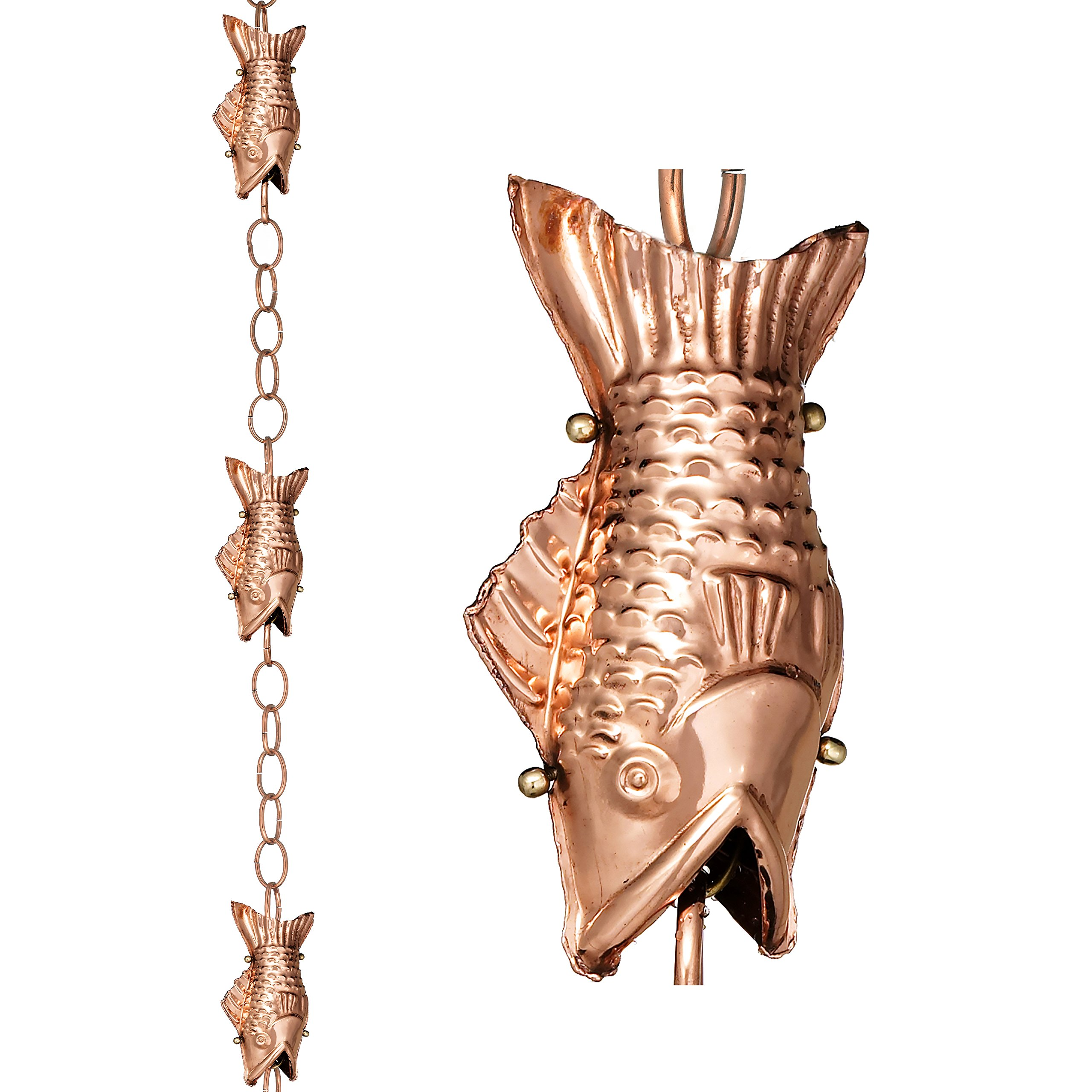 Good Directions Fish Pure Copper 8.5-Foot Rain Chain by Good Directions
