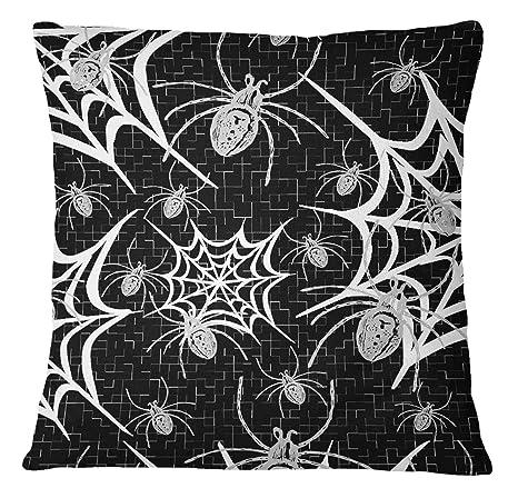 Timingila Negro Satin Fundas de colchón geométrica, la Web y ...