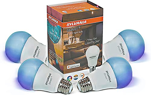 Sylvania 75586 Smart Bluetooth HomeKit-Enabled Color Changing and Dimmable A19 LED Bulb