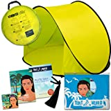 Pluto Yellow Beach Tent: Protect Your Baby From the Sun. Quick Up Pop-Up Tent Canopy System for Kids. Easy-Up Cabana for Outdoor Activities, Great Sunshade Solution Protects Also From Rain & Breeze