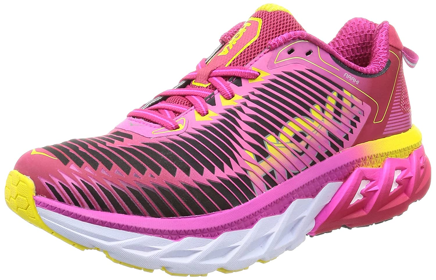 HOKA ONE ONE Mens Arahi Running Shoe B0792M76B2 7 B(M) US|Virtual Pink / Neon Fuchsia