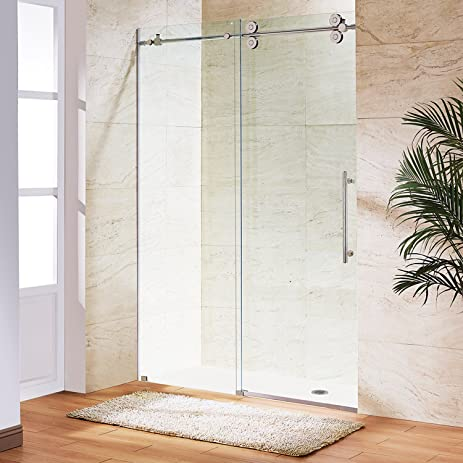 VIGO Elan 52 to 56-in. Frameless Sliding Shower Door with .375-in ...