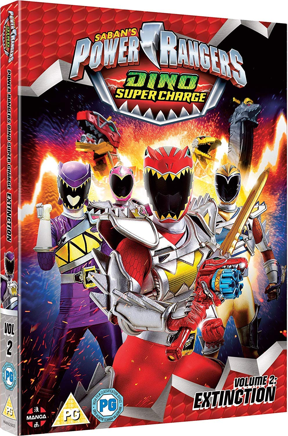 Power Rangers Dino Super Charge: Vol 2 - Extinction Episodes ...