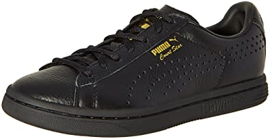 717226d05e0 Puma Women s Court Star Gold Black Leather Sneakers - 4 UK India (37 ...