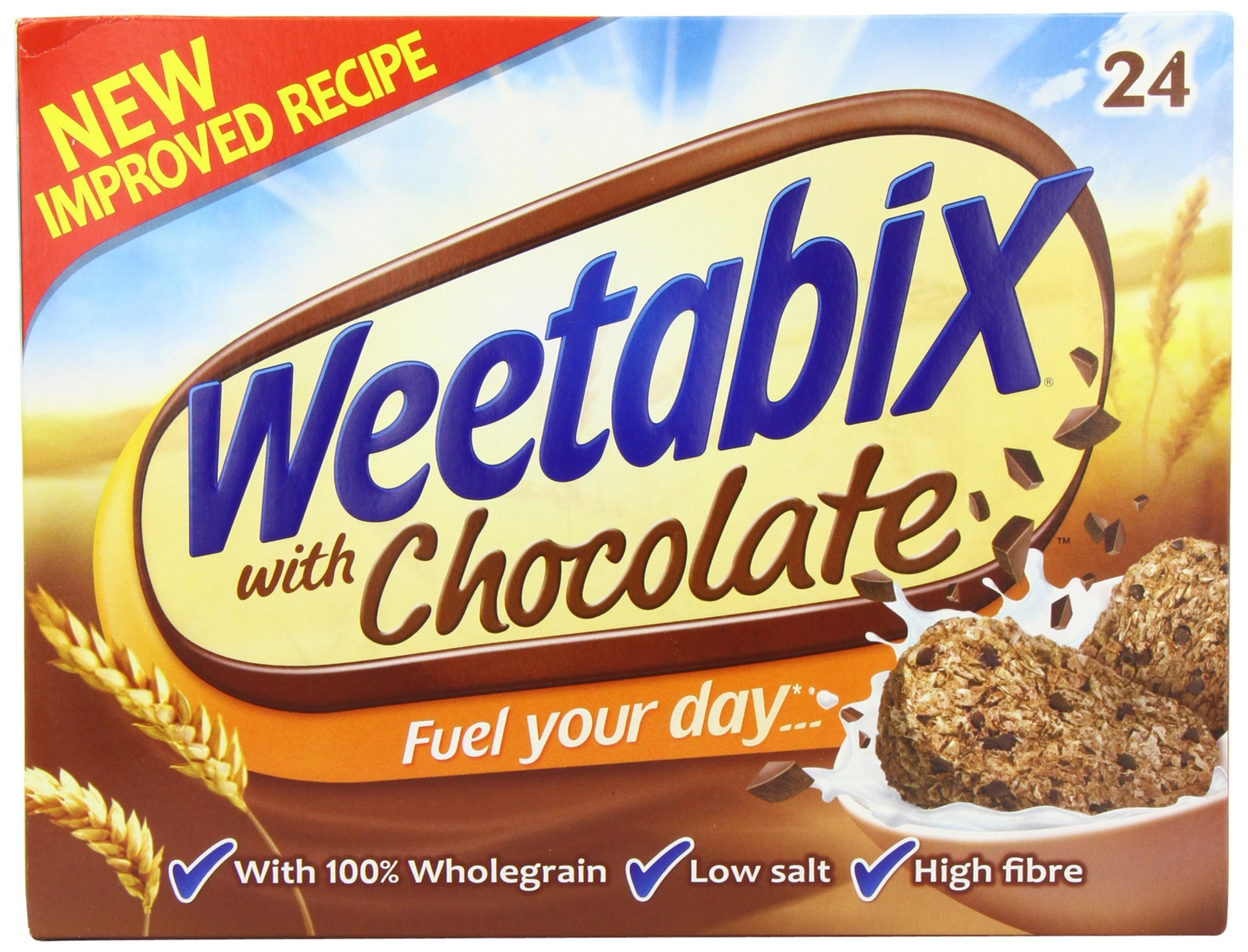 Weetabix Chocolate 24 Pack 540g ( May arrive in 2 pack of 12 or 1 pack of 24)
