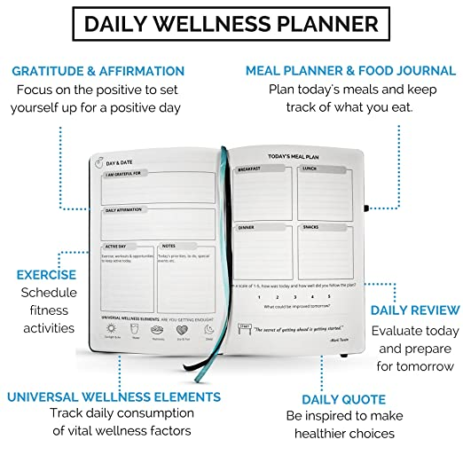 amazon com food journal fitness diary with daily gratitude and
