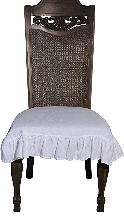 Amazon 100 Flax Linen Dining Room Chair Seat Cover With 3