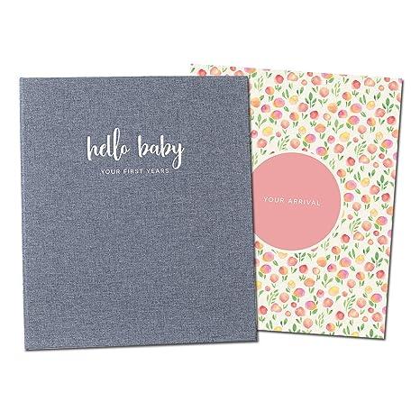 Libro de memoria minimalista para bebé, para niñas, recuerdo ...