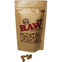 RAW Natural UNREFINED PRE-Rolled Tips - Bag DE