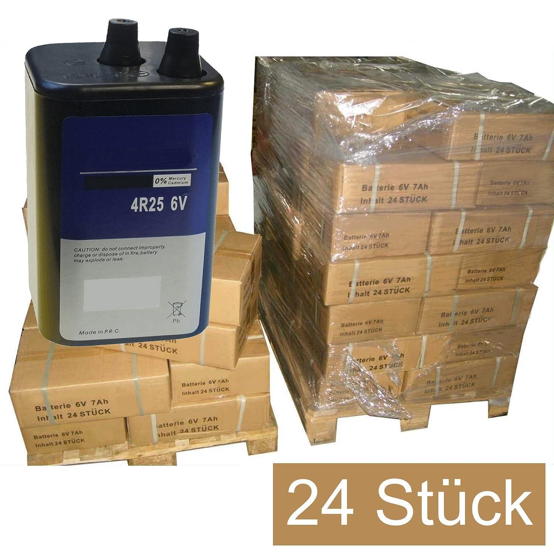 24 STÜ CK Blockbatterien Trockenbatterien Batterien 6V7Ah Campingbatterie 6V 7Ah, Baustellenbatterie, Handscheinwerfer, Handlampenbatterie, Trockenbatterie, Blockbatterie, Lampenbatterie, Batterie, Blinklampenbatterie, 6Volt 7 Ah Hochleistungsbatterie