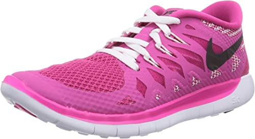 toma una foto paquete Caramelo  Nike Free 5.0, Girl's Running Shoes, Pink (hot Pink/black-white), 3 UK  (35.5 EU): Amazon.co.uk: Shoes & Bags