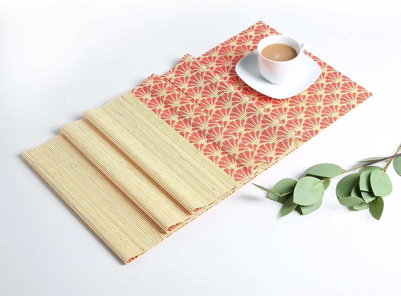 Tapis D/écoration de Table Hot/êl Chemin de Table Bambou Champ/être 135 x 30cm R/ésistant /à la Chaleur Set de Table Long /Él/égant F/ête LOVECASA Salle /à Manger Mariage