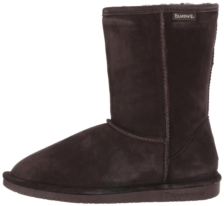BEARPAW Women's Emma Short Snow US|Chocolate Boot B003DNR3C4 10 B(M) US|Chocolate Snow f6a43f