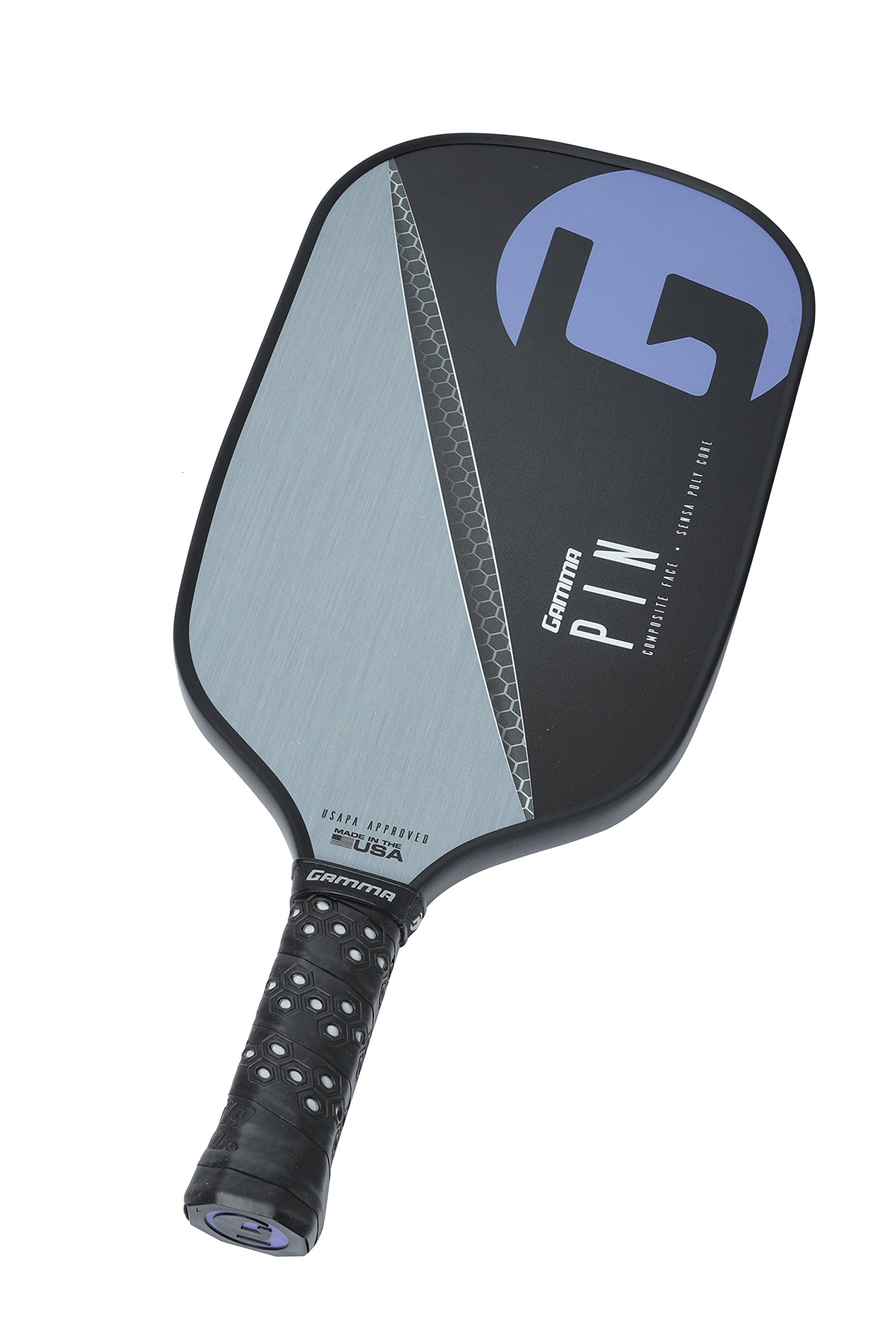 Gamma Pin Elongated Pickleball Paddle: Pickle Ball Paddles for Indoor & Outdoor Play - USAPA Approved Racquet for Adults & Kids - Pink/Blue by Gamma (Image #4)