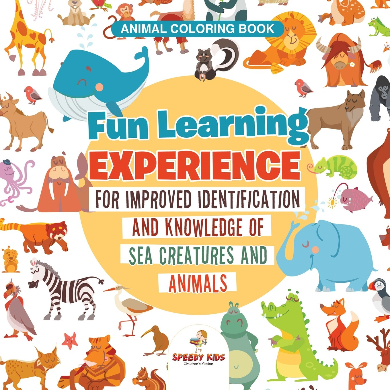amazon animal coloring book fun learning experience for improved