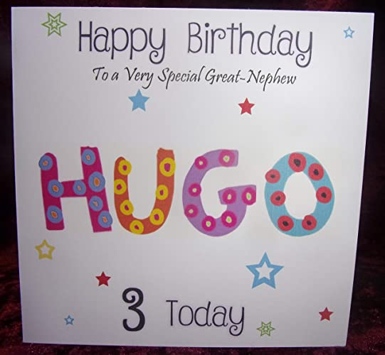 personalised kids name birthday card boy girl any age name relation