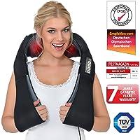 Donnerberg® DAS ORIGINAL Nackenmassagegerät mit Wärme   Schulter Massagegerät für Nacken Schulter Rücken   Muskel Schmerzen   3D-Rotation Massage   TÜV   7 Jahre Garantie   Haus Büro Auto