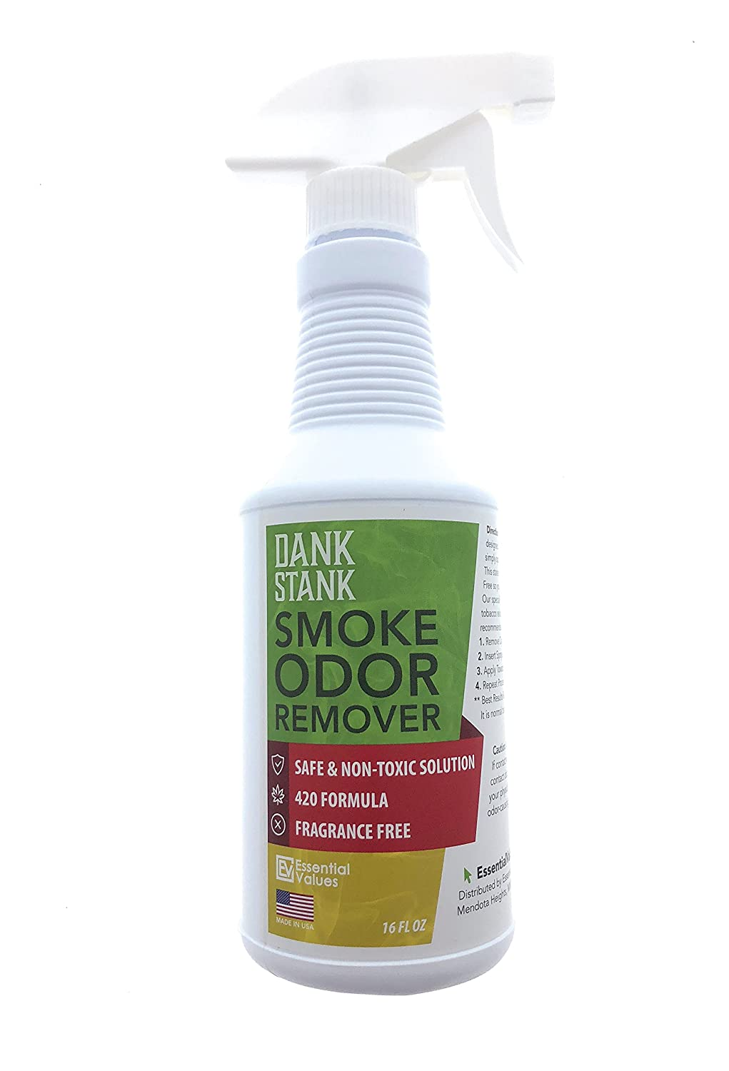 Pot Smoke Odor Eliminator Spray (16oz), for Removing Weed/Cannabis Smells, Keep Unwanted Marijuana Funk Out – Works Best for The Car, Office, Apartment, Home – Barely Legal by Essential Values