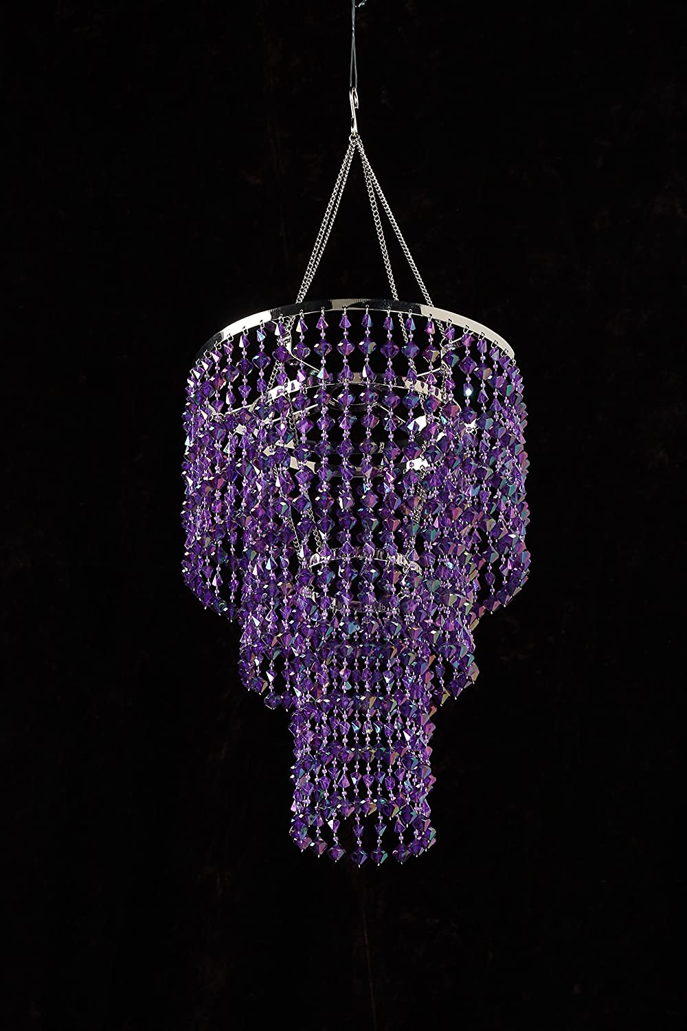 Zappobz hll14 gemstone chandelier purple amazon kitchen zappobz hll14 gemstone chandelier purple amazon kitchen home mozeypictures Images