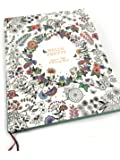 【Angelicate】毎日が楽しくなる イラスト付き 日記帳 フラワー モチーフ A5 クラフトケース入り しおり付 (花冠)