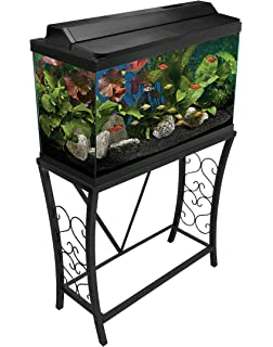 Amazon Com Aquatic Fundamentals 10 Gallon Metal Scroll Aquarium