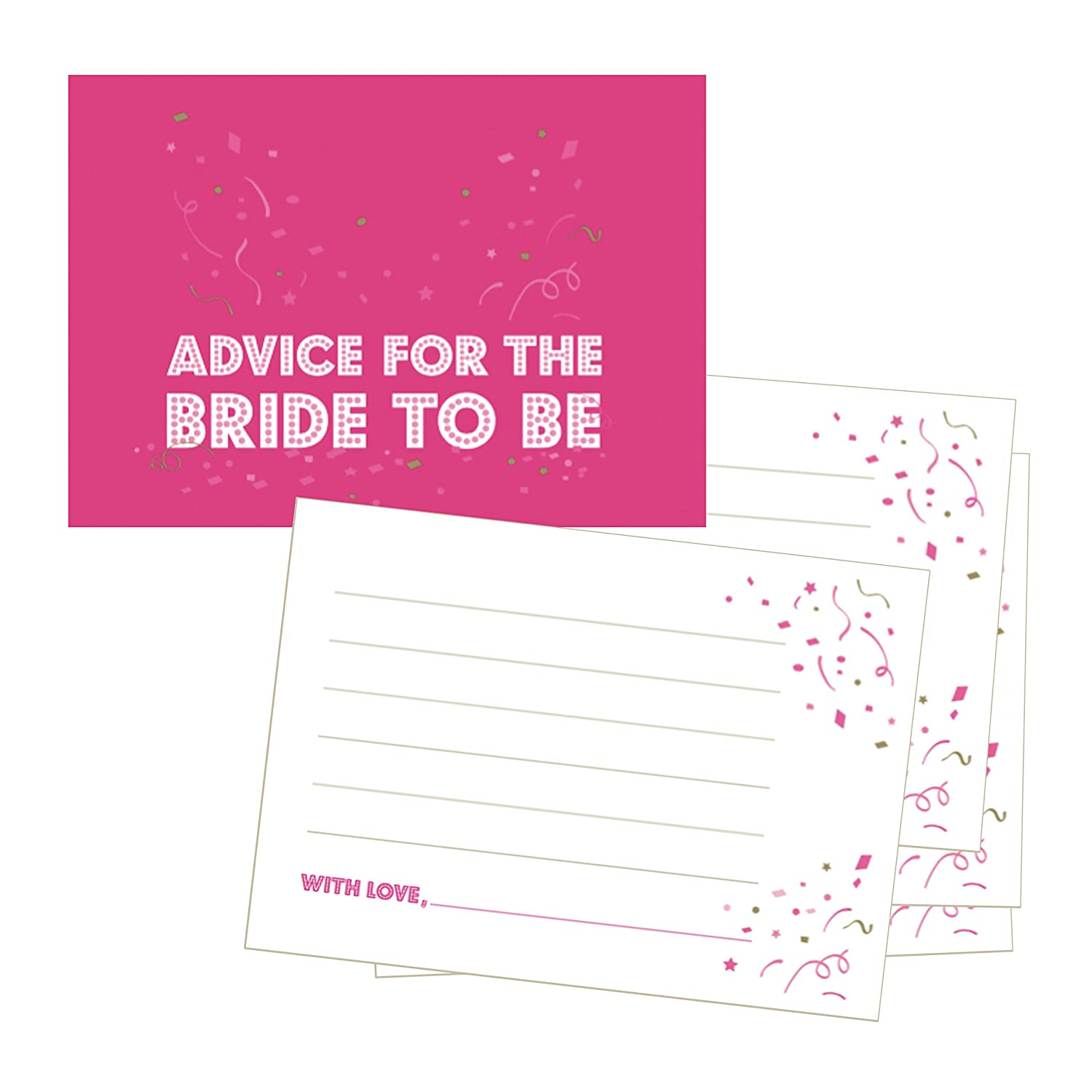 Advice for the Bride to Be Cards - Hen Party Game - Pack of 24 Hen!