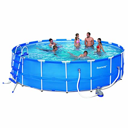 Amazon Com Steel Pro 18 X 48 Frame Pool Set Garden Outdoor