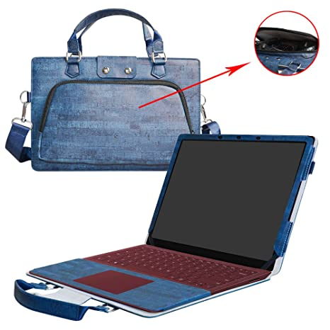 040d7d97af5 Amazon.com: Surface Laptop Case,2 in 1 Accurately Designed Protective PU  Leather Cover + Portable Carrying Bag for 13.5
