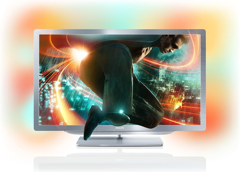 Philips 46PFL9706H - Televisor Full HD con funcionalidad 3D, pantalla LED de 46 pulgadas, HD Ready, color gris: Amazon.es: Electrónica