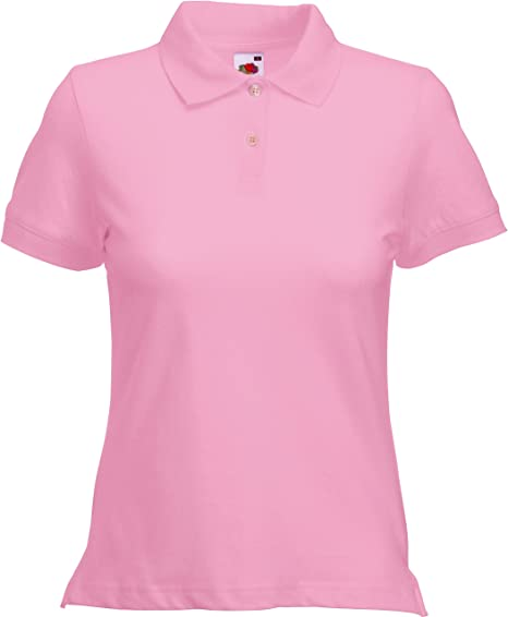 Fruit of the Loom Polo Lady-fit-Polo Mujer Rosa (Light Pink 420) X ...