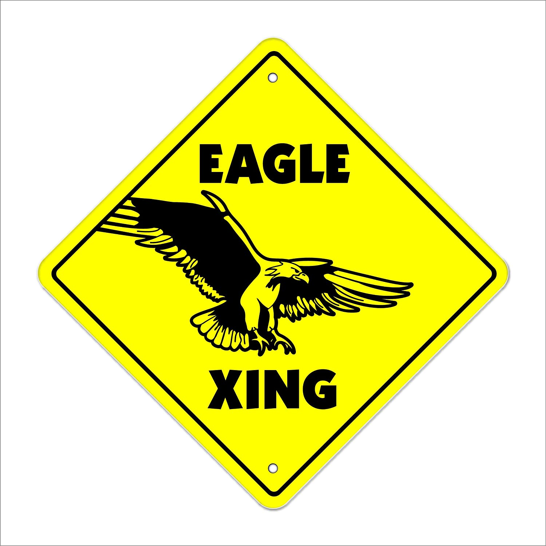"12/""x12/"" plastic American Eagle sign xing Crossings Animal bird"