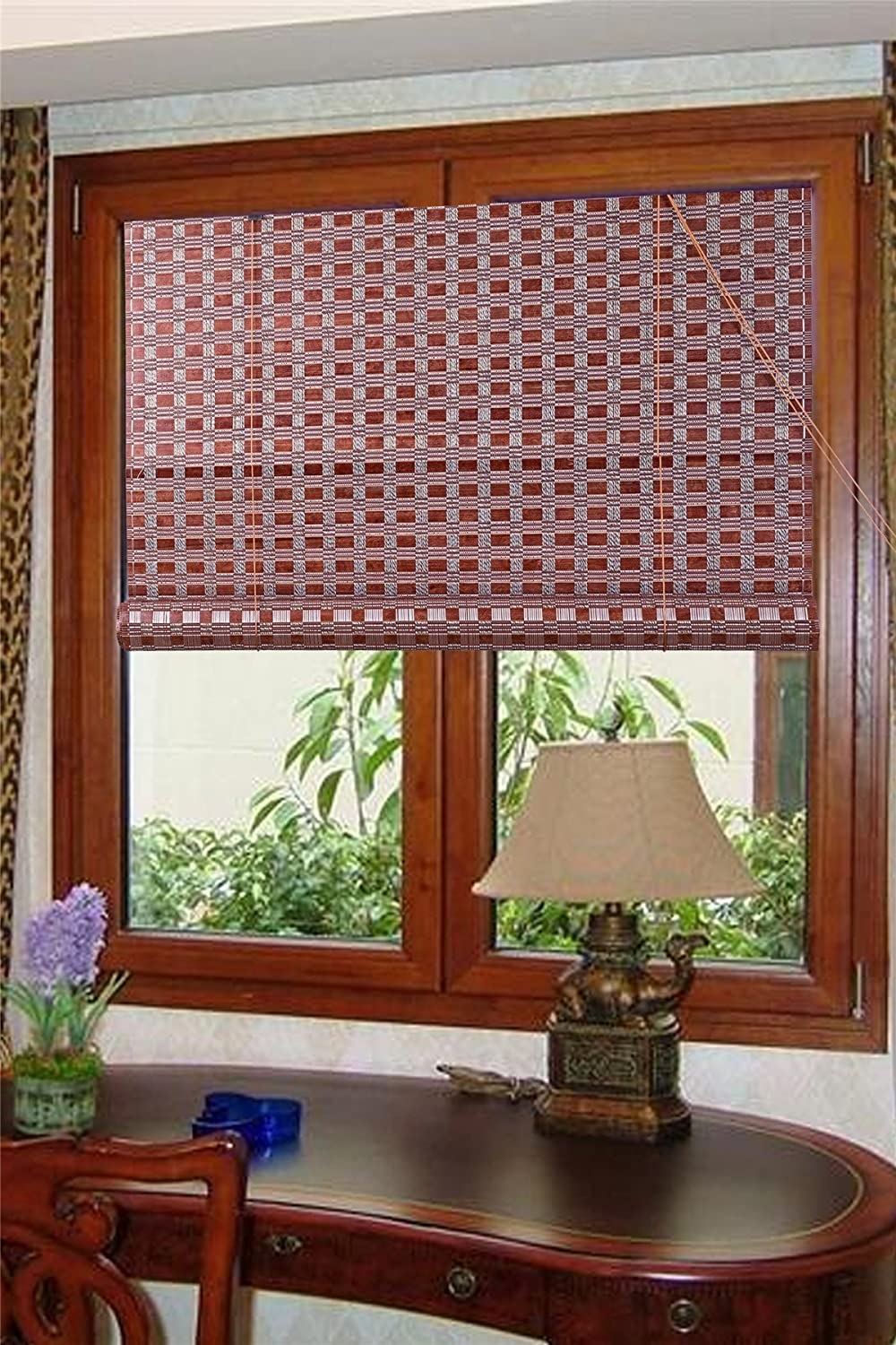 Natural Bamboo Roll up Window Blind Sun Shade WB-G16 (30 X 72) THY TRADING