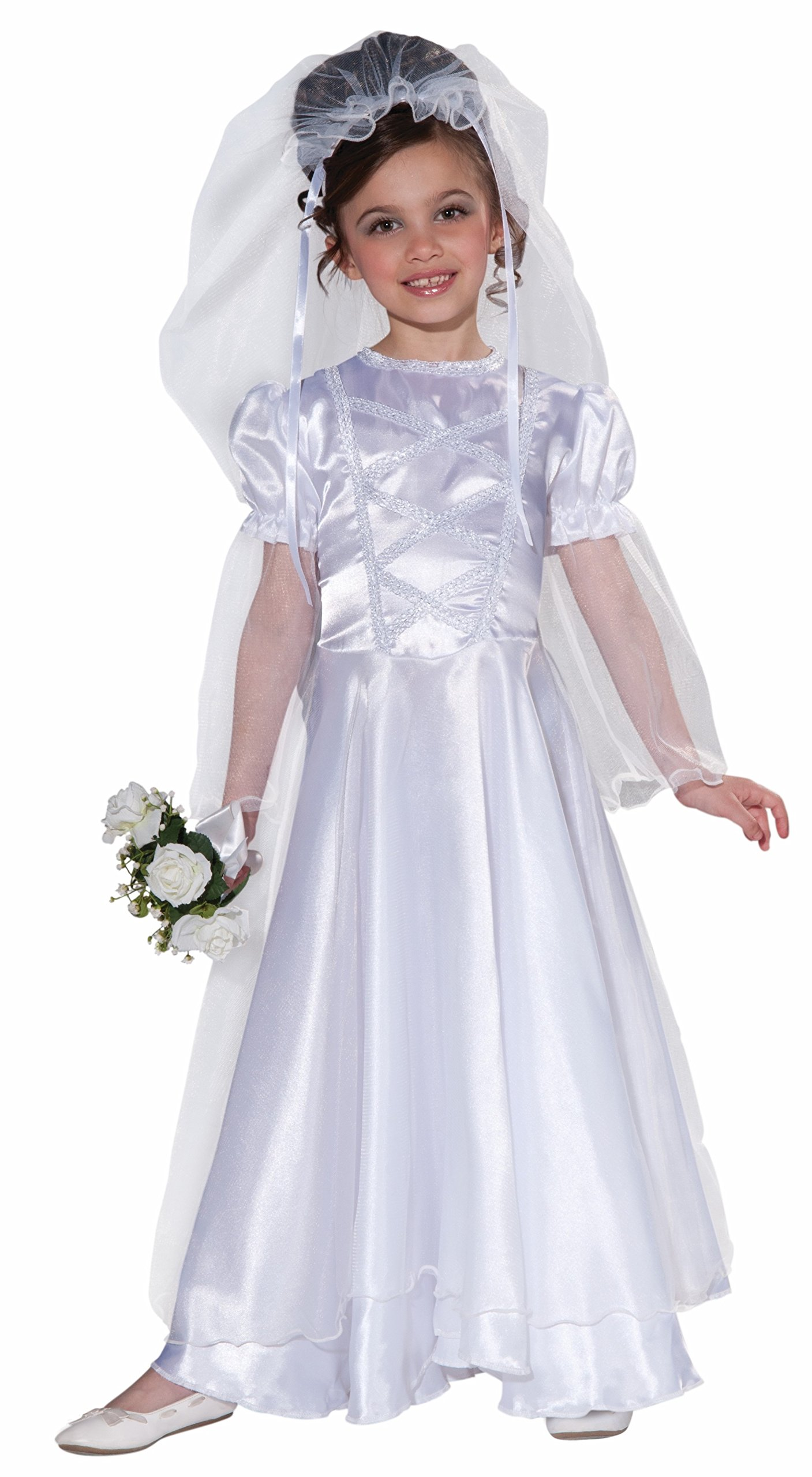 Forum Novelties Little Bride Wedding Belle Child Costume Dress and Veil, Small