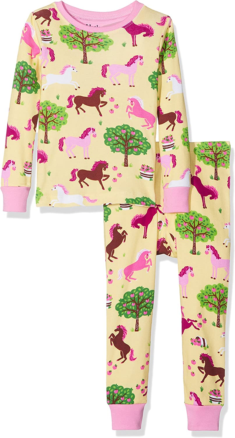 Hatley Girls Organic Cotton Long Sleeve Printed Pyjama Sets