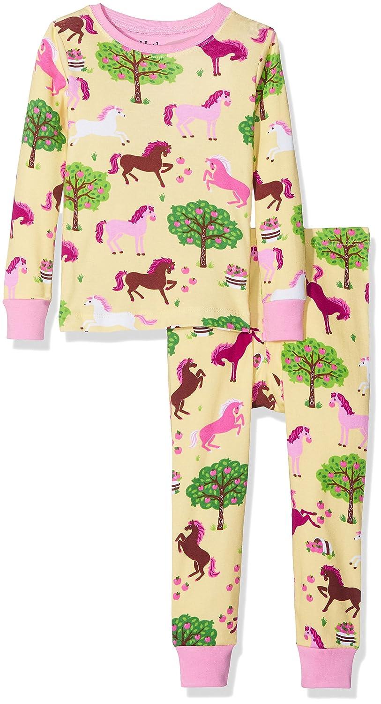 Qzrnly Bambine 2 pezzi Pigiama a maniche lunghe per ragazze Pajama Set 100/% cotone