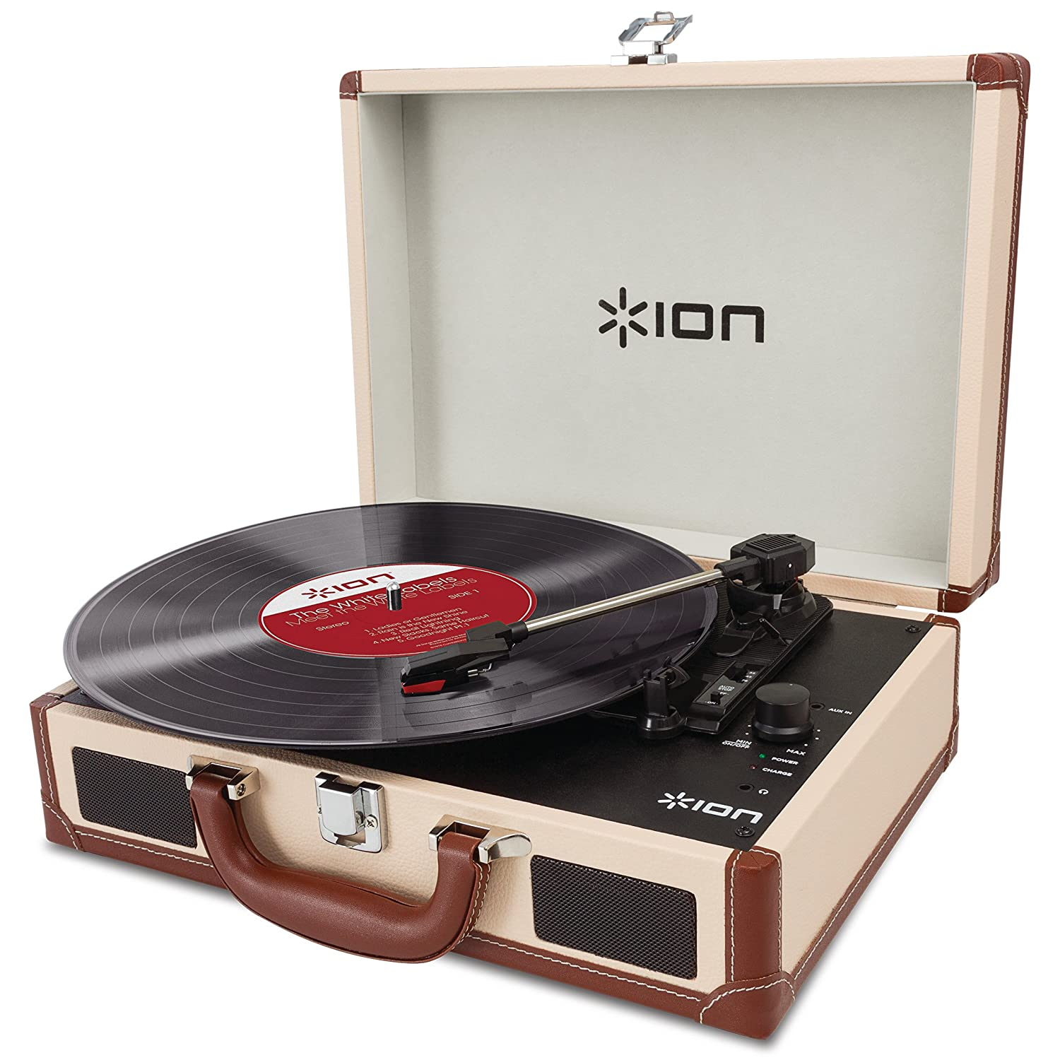 ION Audio Vinyl Motion Deluxe | Portable Briefcase Style Turntable ...
