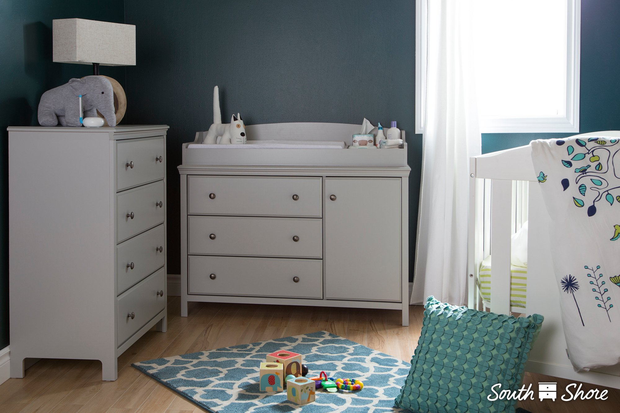 South Shore Cotton Candy Changing Table with Removable Changing Station, Sumptuous Cherry by South Shore (Image #3)