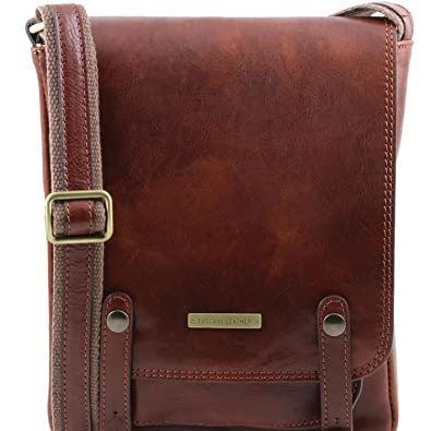Tuscany Leather - Etui pour lunettes/Smartphone en cuir - Rouge 01Xavf