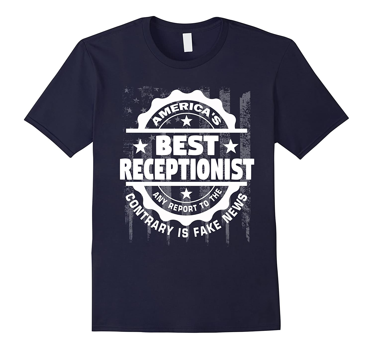 Receptionist Shirt - Americas Best Receptionist Funny tee-TD