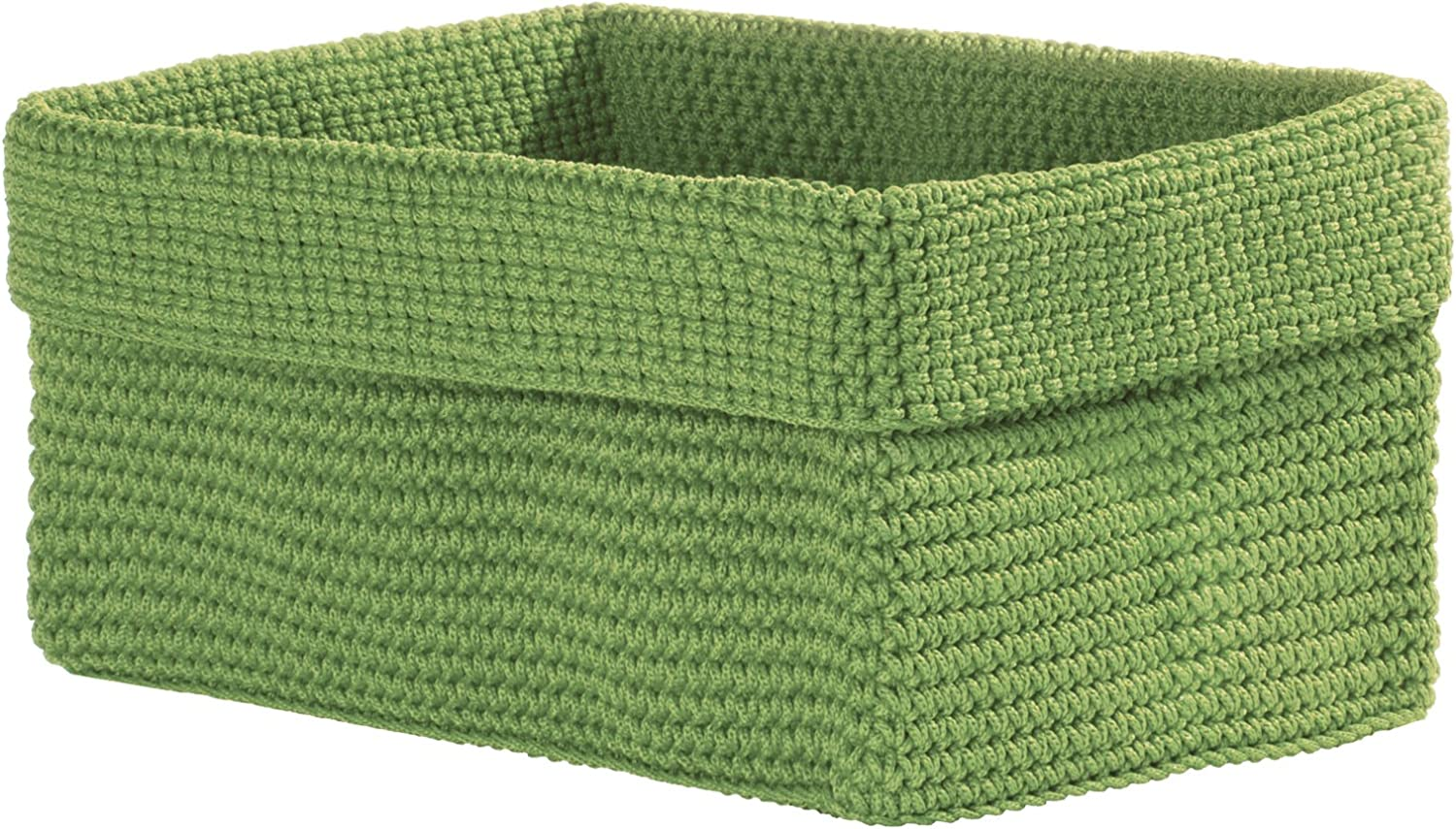 Heritage Lace Mode Crochet Basket, 10 by 6 by 7-Inch, Sage